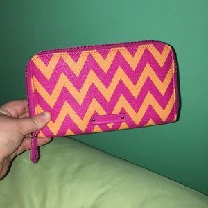 Vera Bradley orange&pink Zigzag wallet